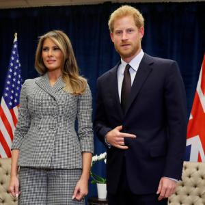 Melania Trump meets Prince Harry, Trudeau, thanks U.S. Invictus team