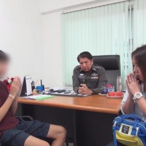 Yob who jumped on woman's car and threatened her gets away with a wai and 500 baht