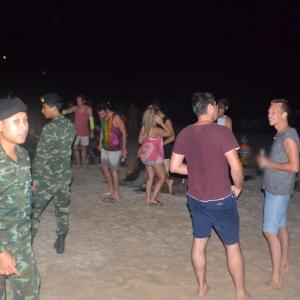 Soldiers raid unofficial Full Moon Party on Koh Phangan