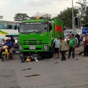 Phuket garbage truck kills another, driver charged