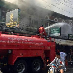 Phuket firefighters douse Patong massage parlour blaze
