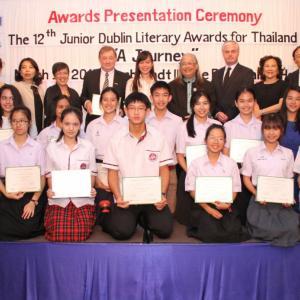 Chiang Mai student wins Junior Dublin Literary Award
