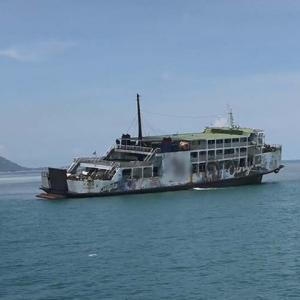 Koh Phangan ferry gets stuck on sandbar just after leaving port - 105 saved