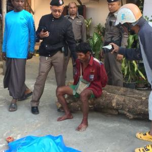 Tak horror as man walks into town with bloodied slain son in his arms
