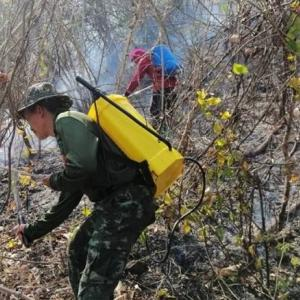 Soldiers on forest-fire frontline in North