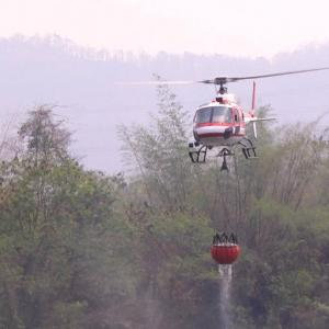Multiple fires speed through Lampang's mountains