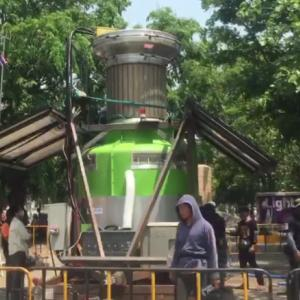 Chiang Mai's Green Giant proves it can suck up fine dust particles