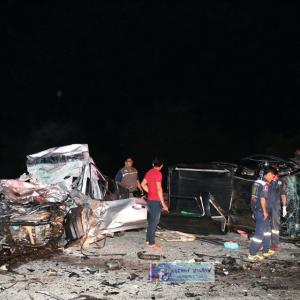 Navy officer and two others killed in Chon Buri road smash