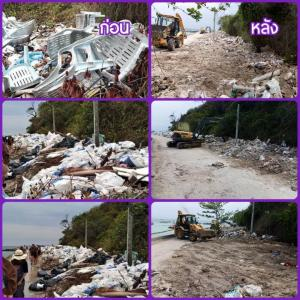 Rubbish on Chon Buri beaches cleared after social media complaints