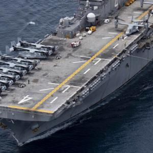 US Navy ports in Patong after Andaman exercises with French carrier group