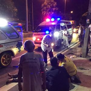 Motorbike driver seriously injured in truck hit and run in Thalang, Phuket