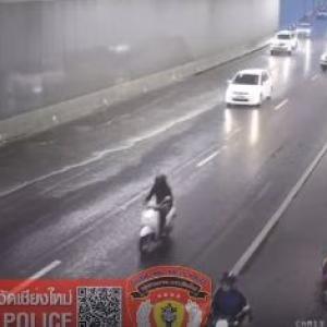 Motorbike riders injured in Chiang Mai underpass