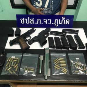 Eight arrested with drugs and firearms in Phuket