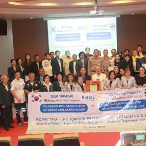 Rotarians donate life-saving equipment to hospitals, schools and rescue units