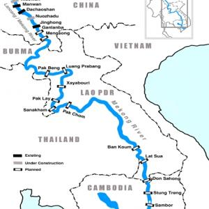 Eight Chinese dams block 40 billion cubic meters of water from Mekong River