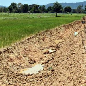 Irrigation department at work on drought relief in the North