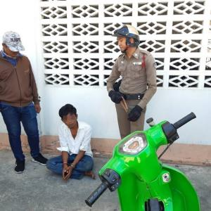 Thief busted for trying to steal motorbike in plain view