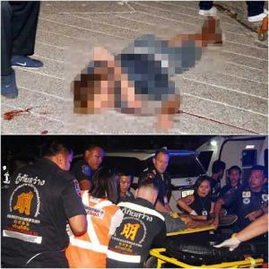 """Foreigner stabs Thai woman with """"luuk chin"""" stick then jumps to hisdeath in Hua Hin"""