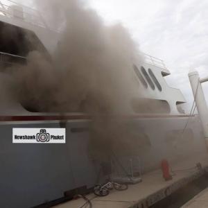 Superyacht ablaze at the Ao Po Grand Marina in Phuket