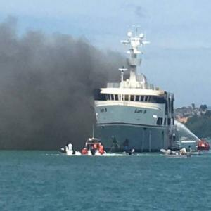 Phuket superyacht blaze spurs officials to call for B50mn fire boat plan to be approved