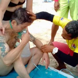 Chinese tourist rescued from surf by Patong lifeguards