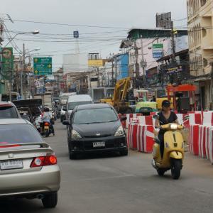 City-wide roadwork leaves Pattaya traffic in gridlock