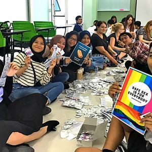 Phuket university's safe-sex campaign attracts 390 volunteers