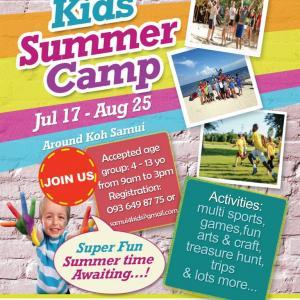 Healthy Summer Camp for Kids on Samui