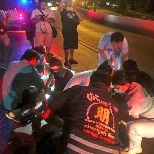 2 Girls seriously injured after hitting concrete barrier