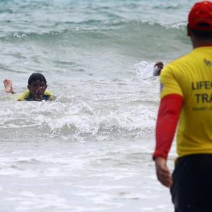 Phuket lifeguards call for hotels to join free surf-rescue training