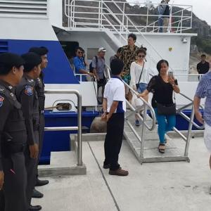 First ferry from Pattaya safely arrives in Hua Hin