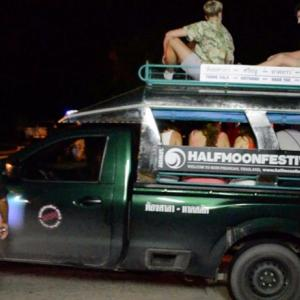 Authorities out in force at Full Moon party arresting illegal taxis