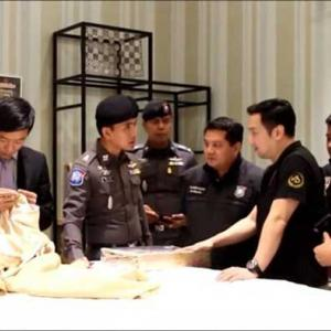 Pattaya police raid shop at center of Chinese claims about fake silk