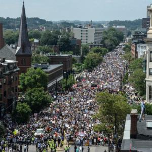 Thousands take to streets in Boston protest against hate speech
