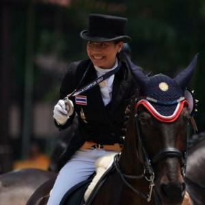 Princess Sirivannavari win silver medal in dressage team