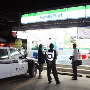 Knifeman holds up Family Mart employee in early morning Pattaya robbery