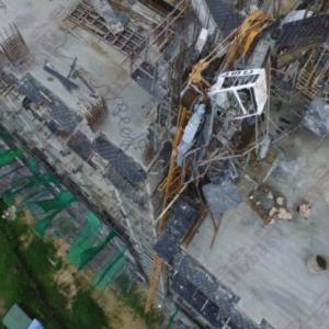 Hell for residents just got worse as crane collapses at Pattaya condodevelopment