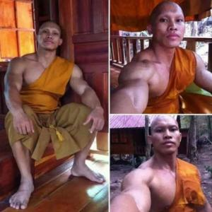 Beefy monk wows internet - sparks debate about obese and sick clergy